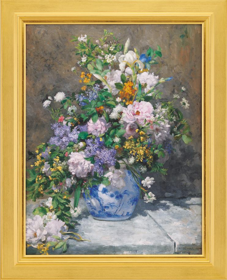 絵画:ルノワールの作品『春の花束』