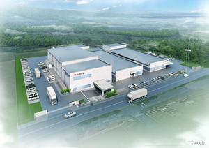 右:3号館竣工後の和歌山工場(イメージ)
